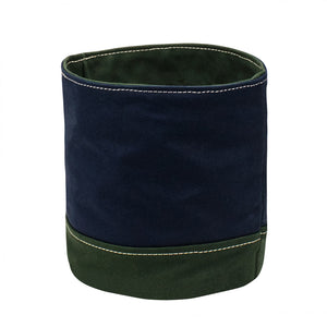 ROUND STORAGE - Navy × Green
