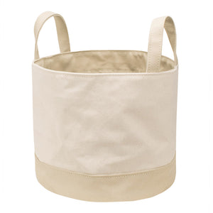 ROUND STORAGE BAG - Natural × Beige