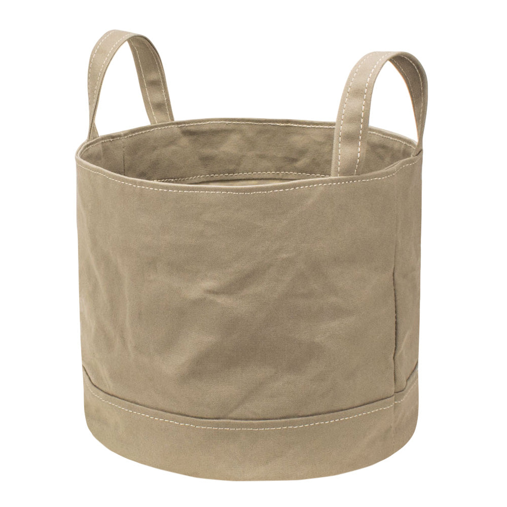 ROUND STORAGE BAG - Sand Beige