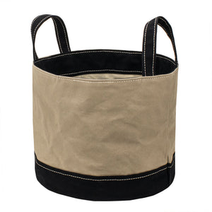 ROUND STORAGE BAG - Sand Beige × Black