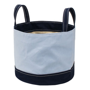 ROUND STORAGE BAG - Saxe × Navy