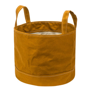 ROUND STORAGE BAG - Yellow Ocher