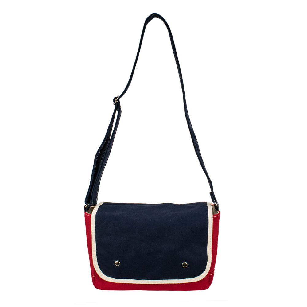 SCHOOL SHOULDER - Red × Navy