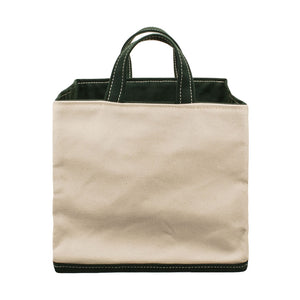 SQUARE STORAGE BAG - Natural × Green