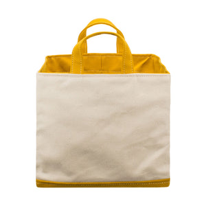 SQUARE STORAGE BAG - Natural × Mustard