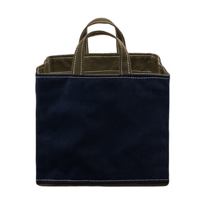 SQUARE STORAGE BAG - Navy × Khaki