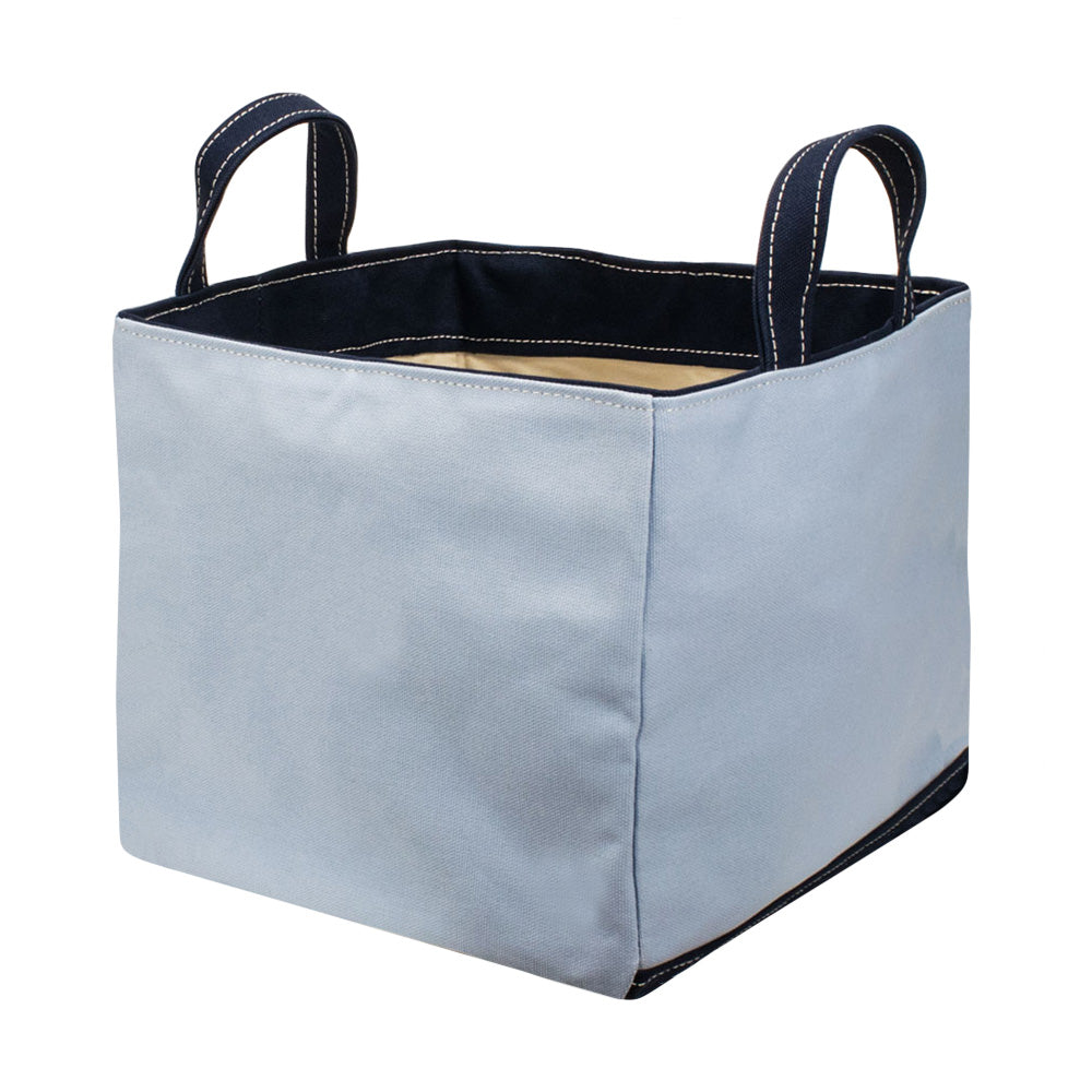 SQUARE STORAGE BAG - Saxe × Navy