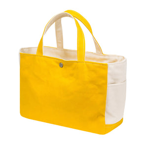 SQUARE TOTE - Deep Yellow × Natural