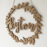 Custom Name Wreath - Botanical