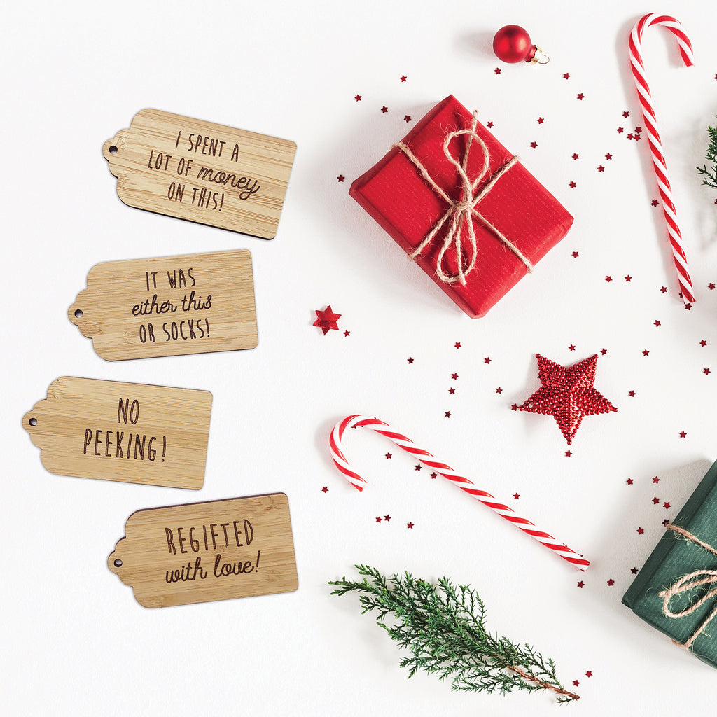 Honest Christmas Gift Tags - Set of 4