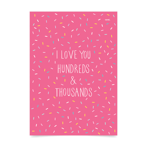 Hundreds & Thousands Art Print
