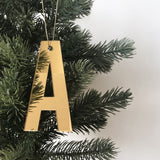 Christmas Letter Ornament - Mirror