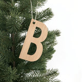 Christmas Letter Ornament - Wood