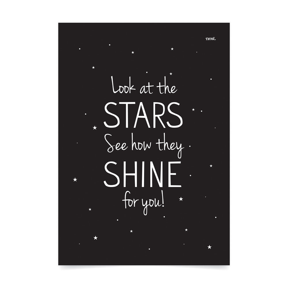 Look at the Stars Print