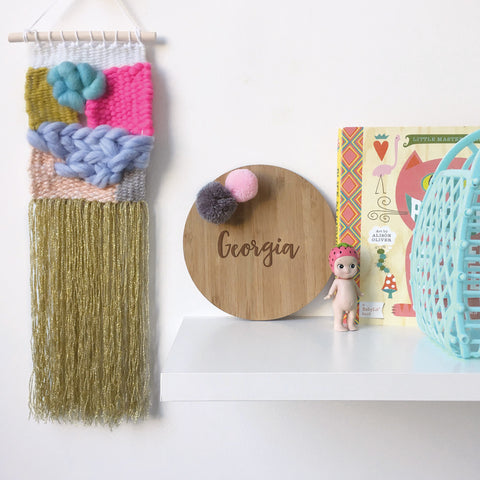 Pom Pom Name Plaque