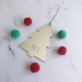 Personalised Christmas Ornament - Mirror
