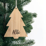 Personalised Christmas Ornament - Wood