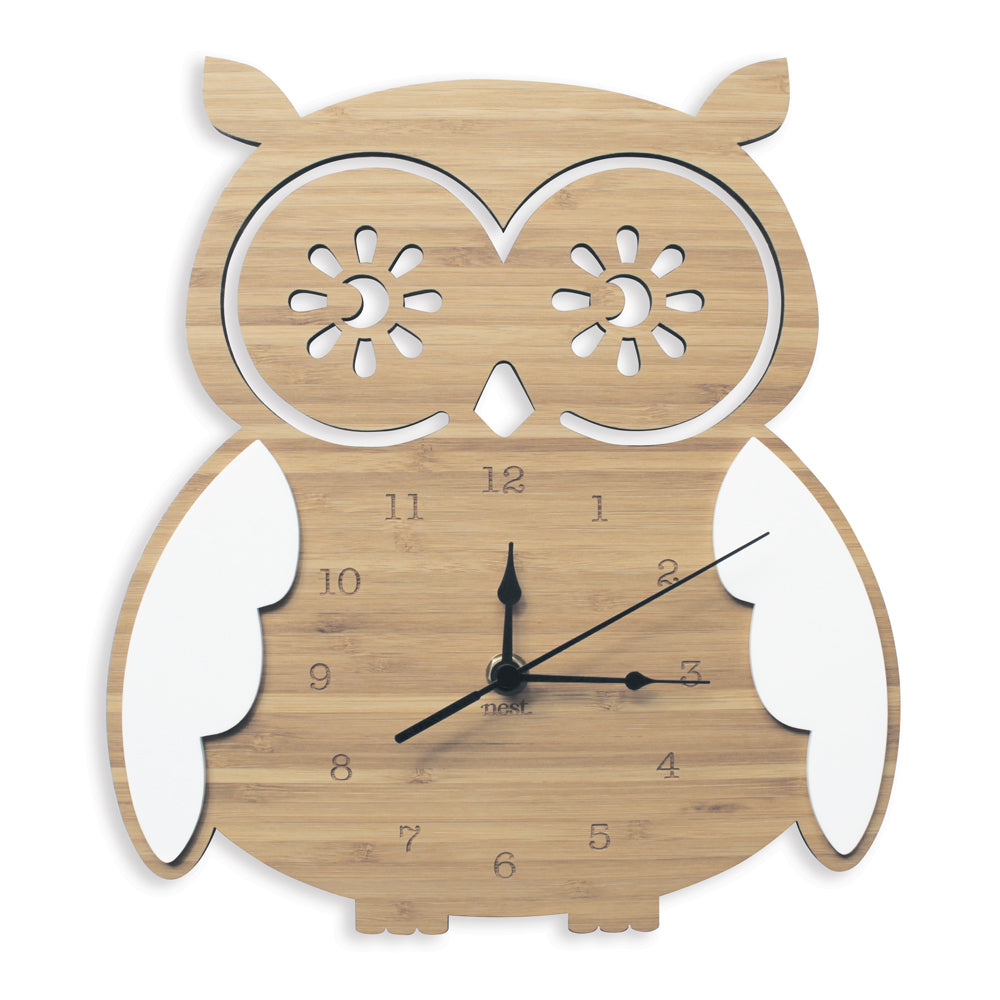 Owl Wall Clock By Nest Accessories