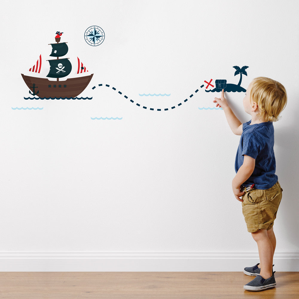 Pirate Ship Wall Sticker Set