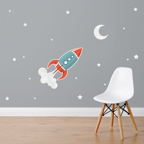 Rocket Wall Sticker Set