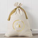 Initial Metallic Personalised Santa Sack