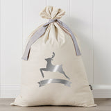 Reindeer Metallic Personalised Santa Sack