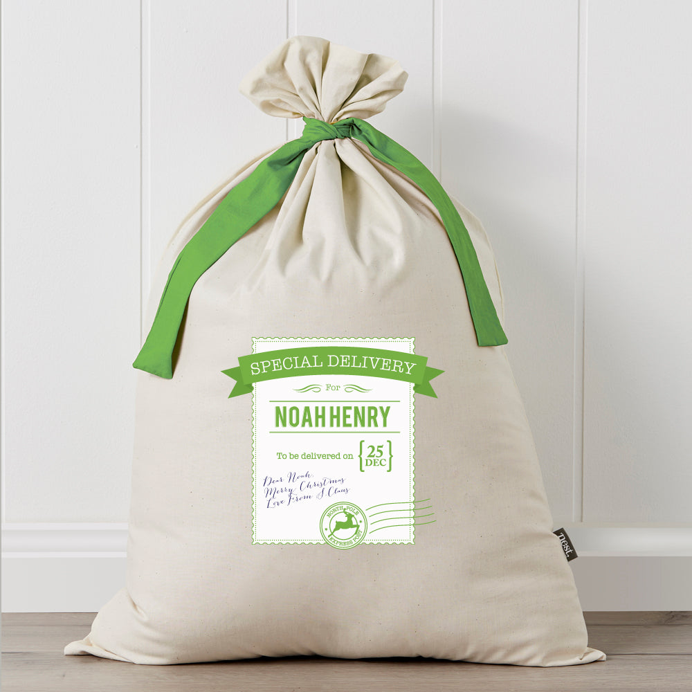Personalised Santa Sack - Special Delivery