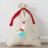 Surfin Santa Personalised Santa Sack