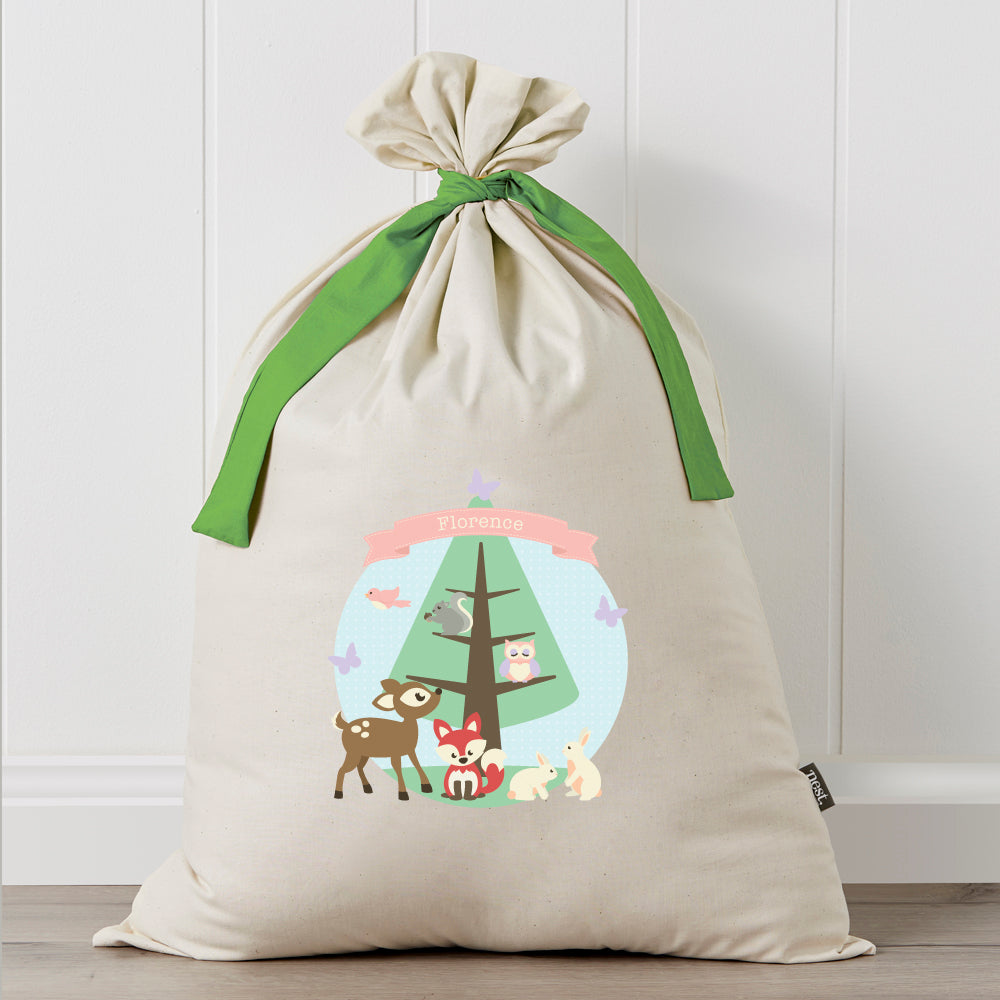 Personalised Santa Sack - Woodlands Christmas