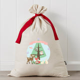 Woodlands Christmas Personalised Santa Sack