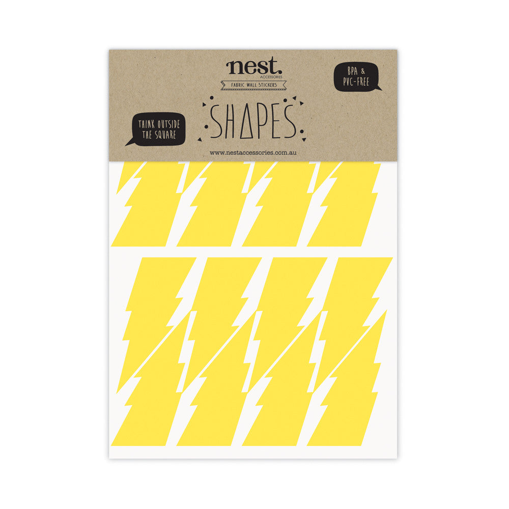 SHAPES 'Lightening Bolts' Wall Stickers
