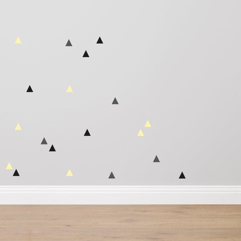 SHAPES 'Triangles' Fabric Wall Stickers