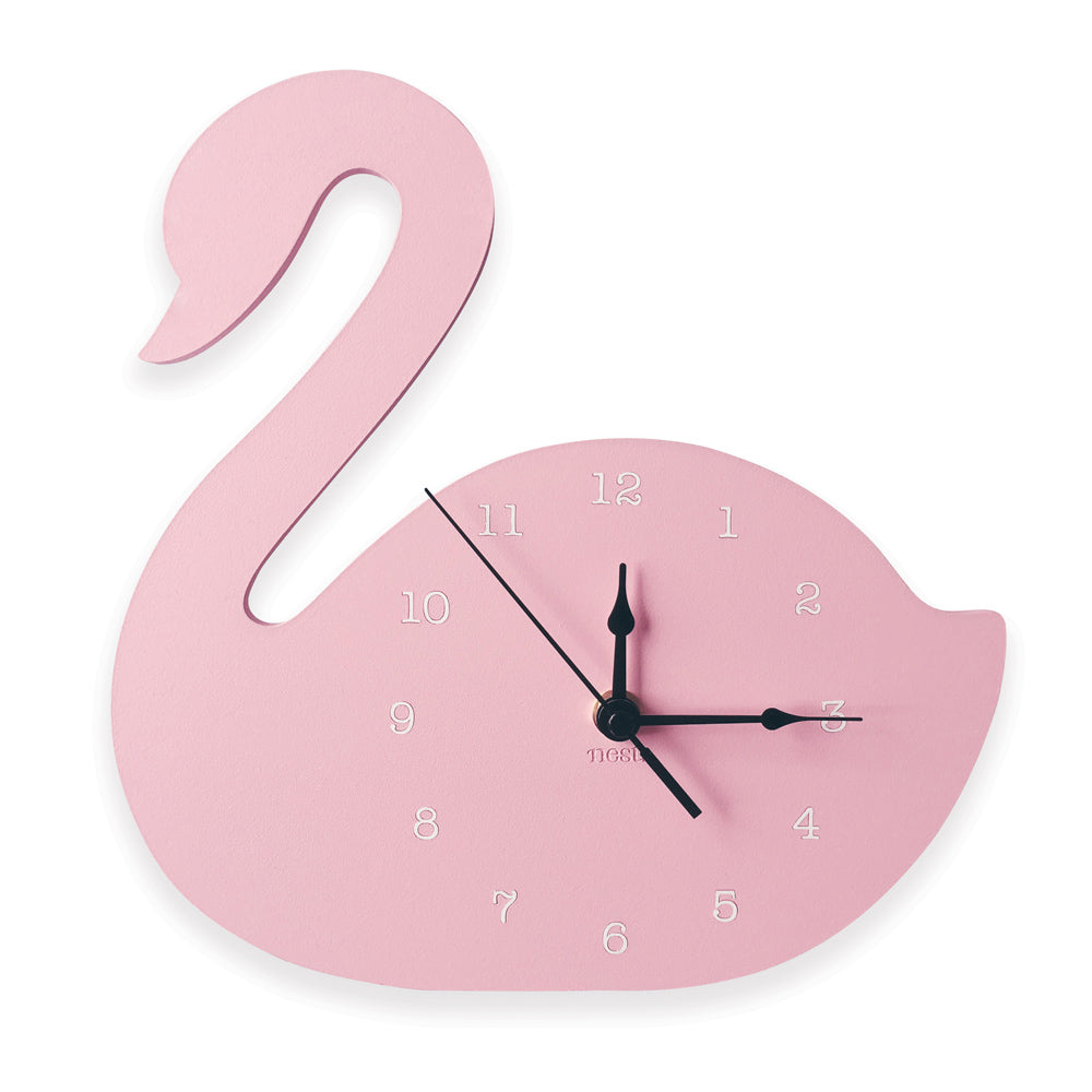 Swan wall clock nest accessories swan wall clock amipublicfo Image collections