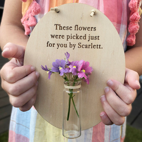These flowers were picked just for you Mother's Day Plaque