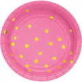 Pink & Gold Paper Plates | Snack | Pk8