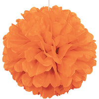 Tissue Paper Puff Ball  | Orange | 40cm
