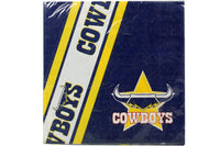 Cowboys NRL Napkins Pack of 12