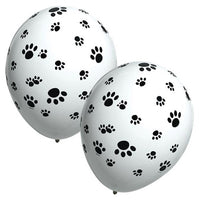 Paw Print Balloons - Single or Pack - Helium Filled or Flat