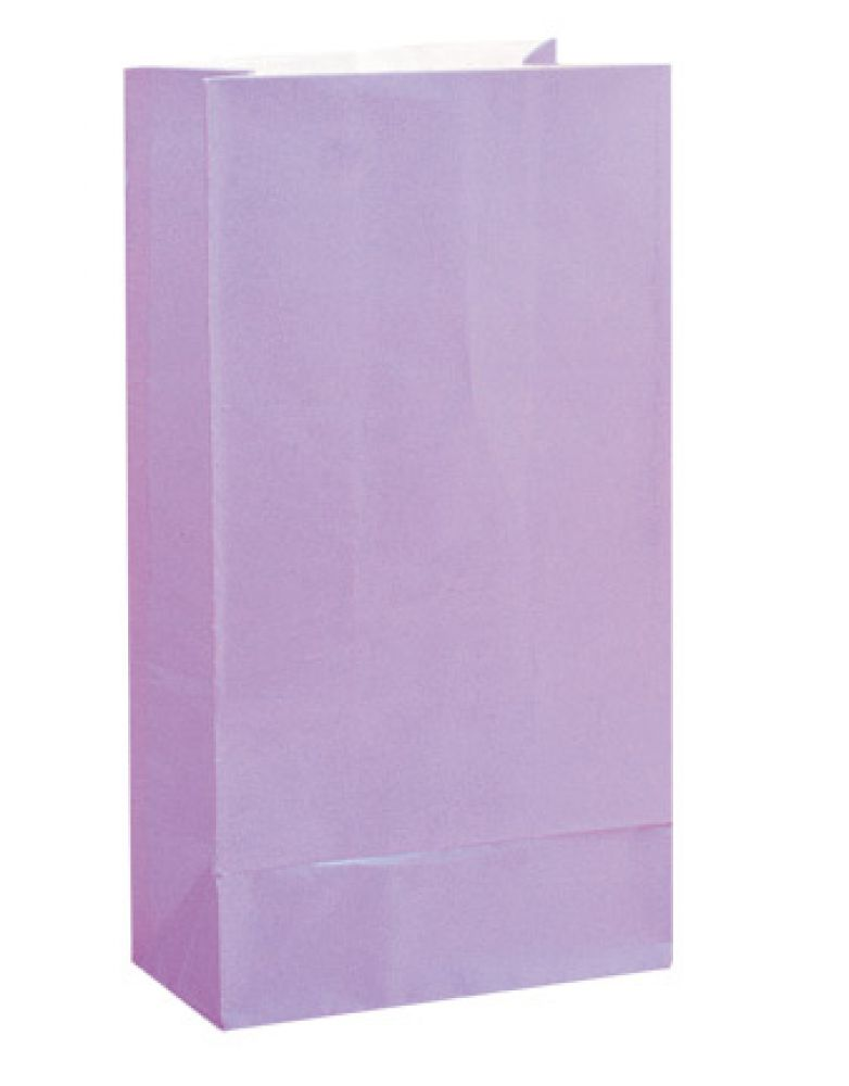 Party Bags | Paper | Lilac | 12pk