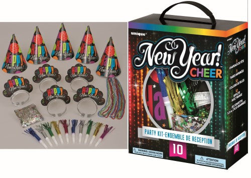 NEW YEAR PARTY KIT FOR 10 - CHEERS PARTY