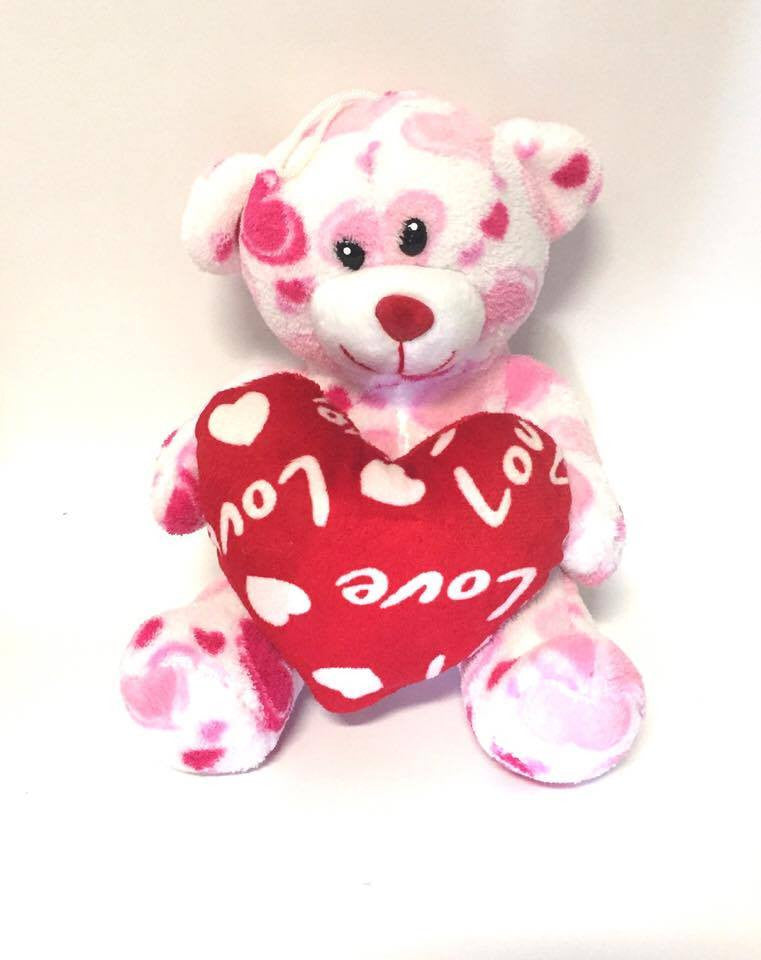 Soft Toy 22cm 'Karren' Bear with Heart