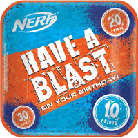 Nerf Theme Paper Plates Lunch Pk8
