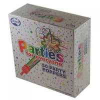 Party Poppers - Pkt 50