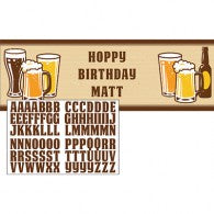 Cheers & Beers Banner - Personalised