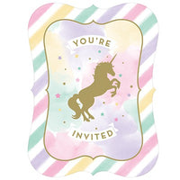 Unicorn Invitations Pk8