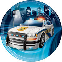 Police Party Snack Plates Pk8