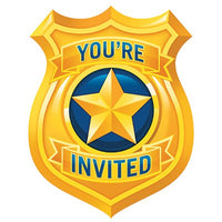 Police Party Invitations Pk8