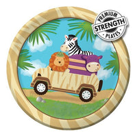 Jungle / Safari Snack Plates Pk8