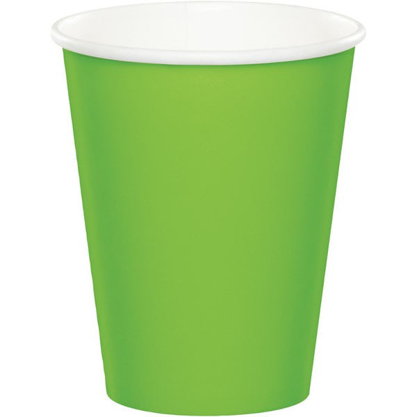 Lime Green Paper Cups Pk20