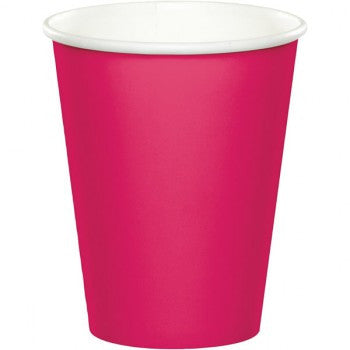 Hot Pink Paper Cups Pk8